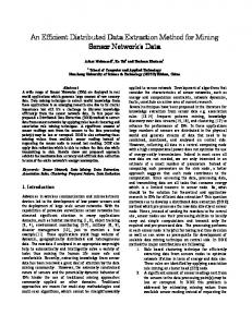 An Efficient Distributed Data Extraction An Efficient Distributed ... - arXiv