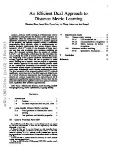 An Efficient Dual Approach to Distance Metric Learning