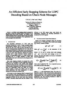 An Efficient Early Stopping Scheme for LDPC Decoding ... - IEEE Xplore