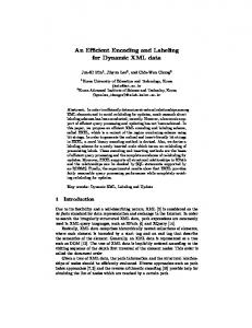 An Efficient Encoding and Labeling for Dynamic ... - Semantic Scholar