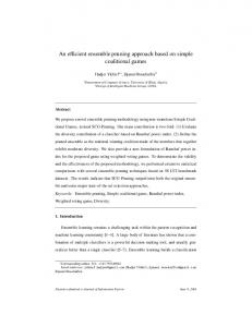 An efficient ensemble pruning approach based on simple coalitional ...