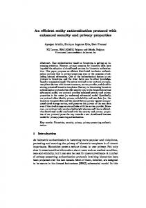 An efficient entity authentication protocol with enhanced security and ...