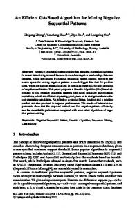 An Efficient GA-Based Algorithm for Mining ... - Semantic Scholar