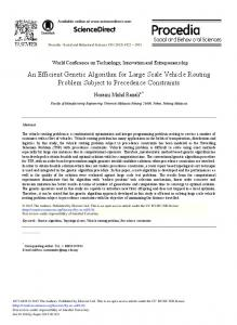 An Efficient Genetic Algorithm for Large Scale Vehicle Routing ... - Core