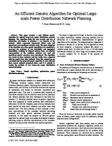 An Efficient Genetic Algorithm for Optimal Large- scale Power ...