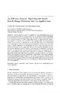 An Efficient Genetic Algorithm for Small Search Range Problems and ...