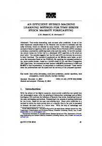 AN EFFICIENT HYBRID MACHINE LEARNING METHOD FOR ... - NNW