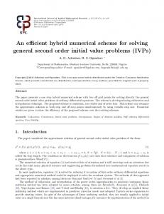An efficient hybrid numerical scheme for solving