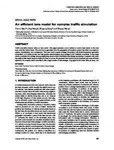 An efficient lane model for complex traffic simulation - Computer ...