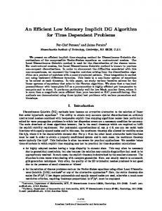 An Efficient Low Memory Implicit DG Algorithm for ... - Semantic Scholar
