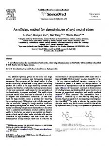 An efficient method for demethylation of aryl methyl