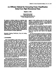 An Efficient Method for Extracting Fuzzy Classification Rules ... - chius