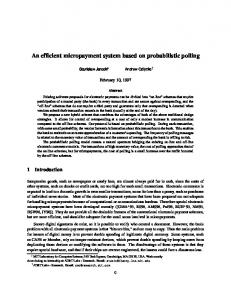 An efficient micropayment system based on probabilistic ... - CiteSeerX