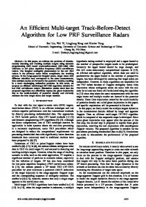 An Efficient Multi-target Track-Before-Detect Algorithm ... - IEEE Xplore