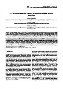 An Efficient Multicast Routing Protocol in Wireless Mobile Networks