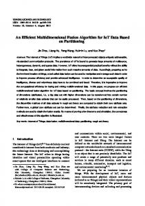 An Efficient Multidimensional Fusion Algorithm for ... - Semantic Scholar