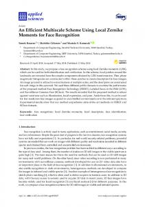 An Efficient Multiscale Scheme Using Local Zernike Moments for Face ...