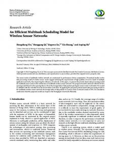 An Efficient Multitask Scheduling Model for Wireless Sensor Networks