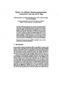 An Efficient Mutual-Authentication Protocol for Low-cost ... - CiteSeerX