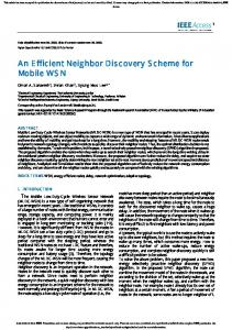 An Efficient Neighbor Discovery Scheme for Mobile