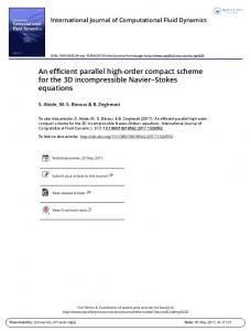 An efficient parallel high-order compact scheme for ...