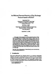 An Efficient Password Security of Key Exchange Protocol based on ...