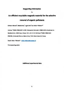 An efficient recyclable magnetic material for the ... - Beilstein Journal