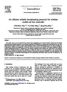 An efficient reliable broadcasting protocol for ... - Semantic Scholar