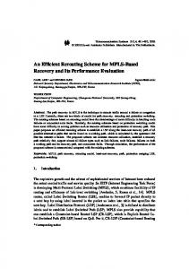 An Efficient Rerouting Scheme for MPLS-Based Recovery and Its ...