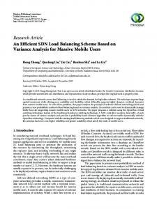 An Efficient SDN Load Balancing Scheme Based on Variance