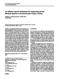 An efficient search mechanism for supporting partial ... - Springer Link