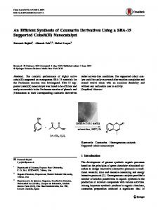 An Efficient Synthesis of Coumarin Derivatives Using a SBA-15 ...