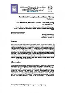 An Efficient Three-phase Email Spam Filtering Technique