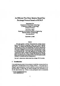 An Efficient Two-Party Identity-Based Key Exchange Protocol ... - IACR