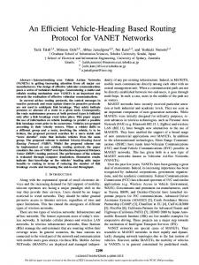 An Efficient Vehicle-Heading Based Routing Protocol for ... - IEEE Xplore