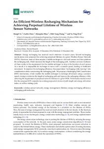 An Efficient Wireless Recharging Mechanism for Achieving Perpetual ...