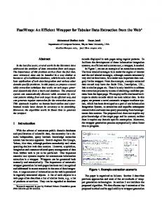 An Efficient Wrapper for Tabular Data Extraction ... - Semantic Scholar