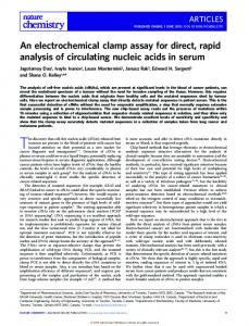 An electrochemical clamp assay for direct, rapid