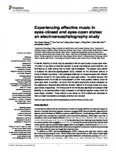 an electroencephalography study - Frontiers