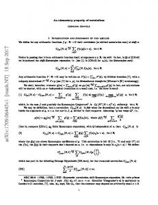 An elementary property of correlations