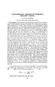 AN ELEMENTARY THEOREM IN GEOMETRIC INVARIANT THEORY