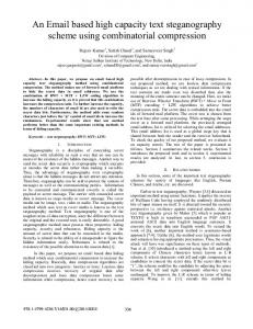 An Email based high capacity text steganography ... - IEEE Xplore