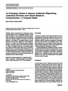 An Emergency System to Improve Ambulance Dispatching ...