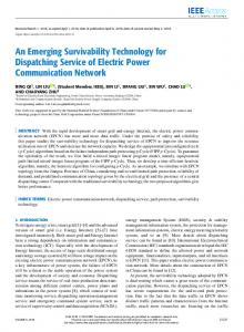 An Emerging Survivability Technology for Dispatching ... - IEEE Xplore