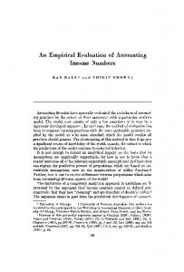 An Empirical Evaluation of Accounting Income Numbers