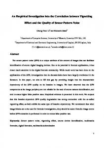 An Empirical Investigation into the Correlation between Vignetting ...