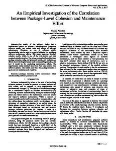 An Empirical Investigation of the Correlation between Package-Level ...