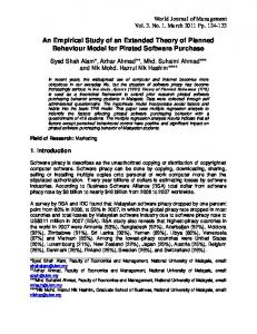 An Empirical Study of an Extended Theory of ... - Semantic Scholar