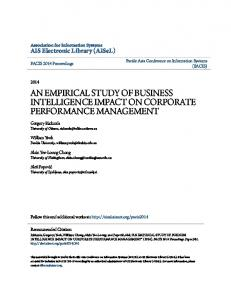 an empirical study of business intelligence impact on ...