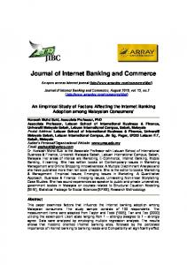 An Empirical Study of Factors Affecting the Internet Banking Adoption ...